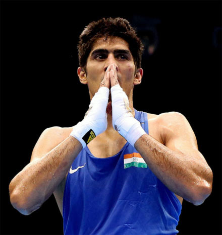 Rediff Sports - Cricket, Indian hockey, Tennis, Football, Chess, Golf - Olympic medallist Vijender gives up India career, turns professional
