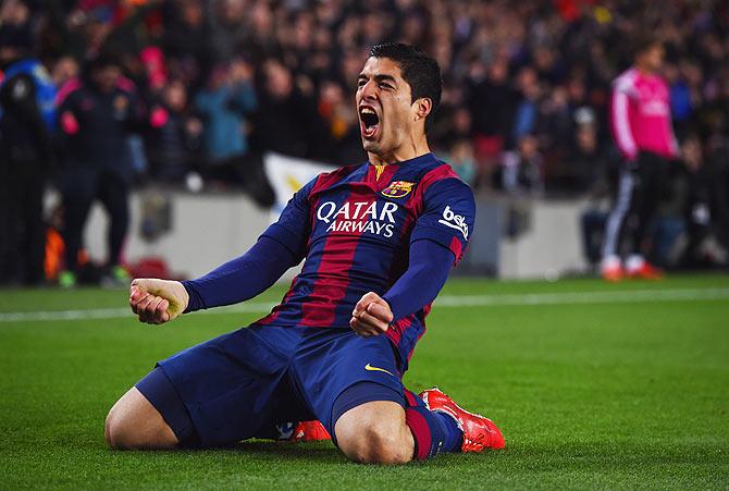 Suarez Barcelona Clasico Barcelona's Luis Suarez