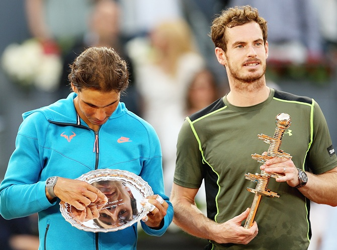Rafael Nadal with Andy Murray