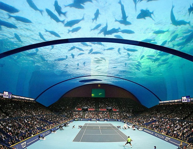 An underwater tennis court? Now that's cool! - Rediff.com Sports