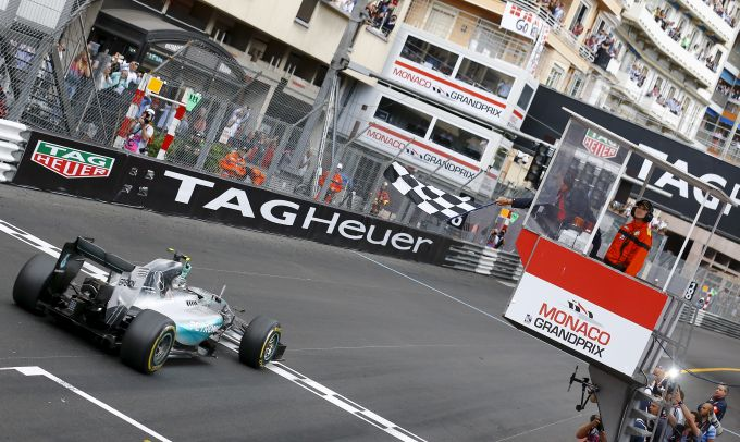 Rediff Sports - Cricket, Indian hockey, Tennis, Football, Chess, Golf - Rosberg takes Monaco hat-trick after Mercedes gaffe