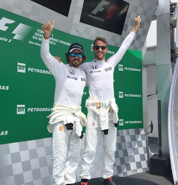 McLaren drivers on podium! Wait a minute, just kidding!
