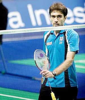 Indian badminton player Anand Pawar