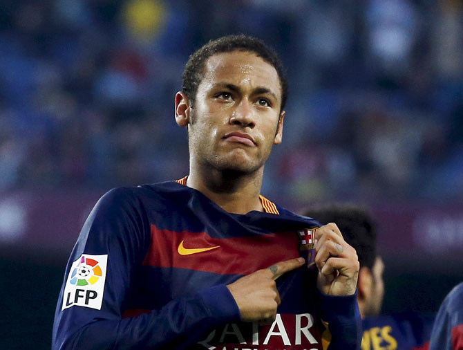 Rediff Sports - Cricket, Indian hockey, Tennis, Football, Chess, Golf - Barcelona leaves Neymar out of El Clasico