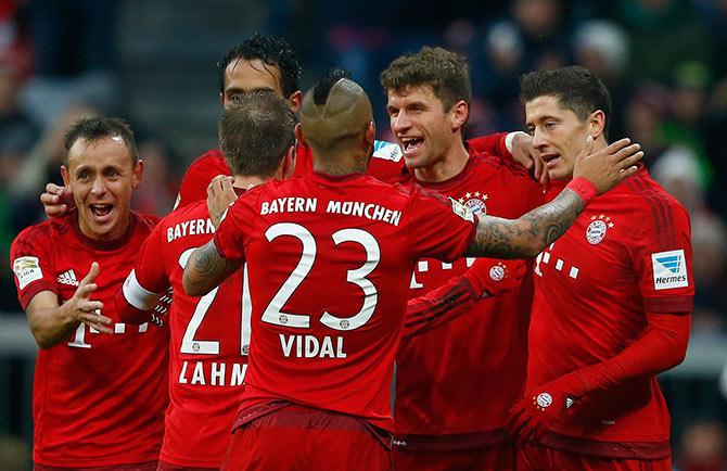 Rediff Sports - Cricket, Indian hockey, Tennis, Football, Chess, Golf - Bundesliga: Rampant Bayern ease past Hertha to go 11 points clear