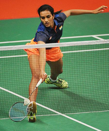 Rediff Sports - Cricket, Indian hockey, Tennis, Football, Chess, Golf - Shuttler Sindhu battles into Macau Open final