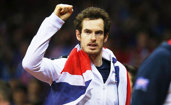 Rediff Sports - Cricket, Indian hockey, Tennis, Football, Chess, Golf - Murray to return to Davis Cup action against France