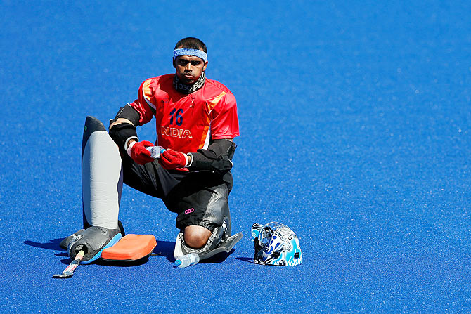 Rediff Sports - Cricket, Indian hockey, Tennis, Football, Chess, Golf - 'Keeper Sreejesh returns for Commonwealth Games, Sardar dropped