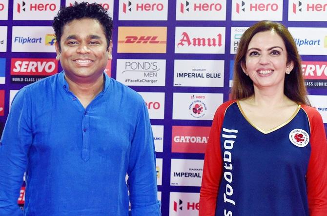 Rediff Sports - Cricket, Indian hockey, Tennis, Football, Chess, Golf - Aishwarya, Rehman to perform at ISL 2 opening ceremony