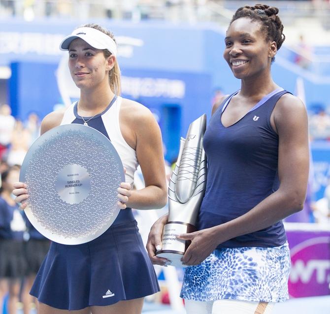 Rediff Sports - Cricket, Indian hockey, Tennis, Football, Chess, Golf - Venus Williams wins Wuhan Open title