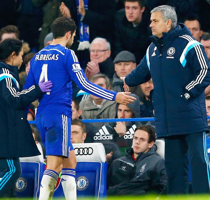 Rediff Sports - Cricket, Indian hockey, Tennis, Football, Chess, Golf - Mourinho gives me confidence; he is best man for Chelsea: Fabregas
