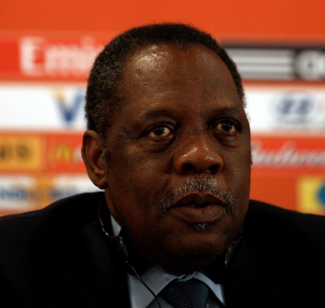 Rediff Sports - Cricket, Indian hockey, Tennis, Football, Chess, Golf - Cameroon's Hayatou to stand in for suspended Blatter