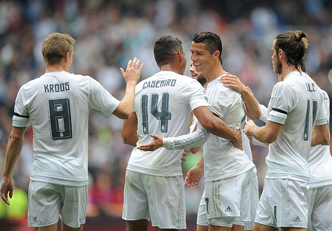 Real Madrid have a three-point lead over FC Barcelona in the La Liga standings