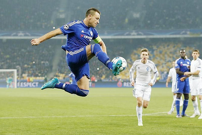 Chelsea's John Terry in action during the UEFA Champions League Group G match against NSK Olimpiyskyi Stadium, Kiev, on Tuesday