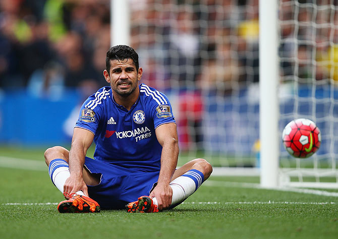 Rediff Sports - Cricket, Indian hockey, Tennis, Football, Chess, Golf - EPL: Costa accuses Chelsea of pricing him out of Atletico move