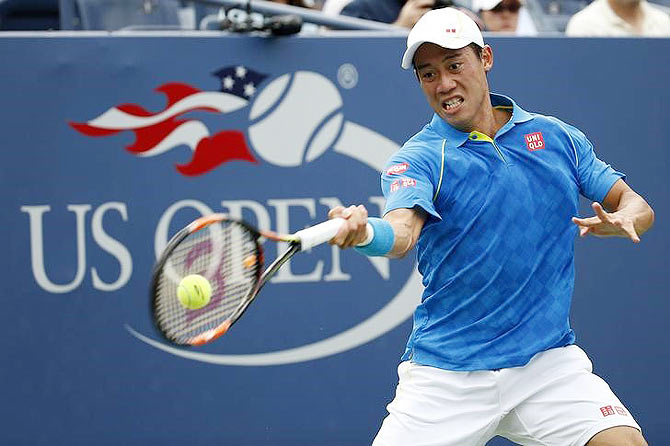 Rediff Sports - Cricket, Indian hockey, Tennis, Football, Chess, Golf - Upsets on Day 1 at the US Open: Nishikori, Ivanovic out