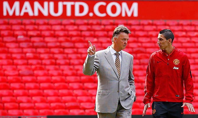Rediff Sports - Cricket, Indian hockey, Tennis, Football, Chess, Golf - Di Maria reveals he did not share a good relationship with Van Gaal