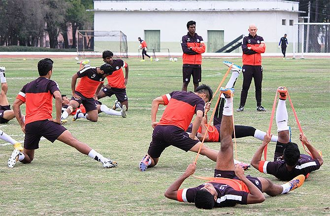 Rediff Sports - Cricket, Indian hockey, Tennis, Football, Chess, Golf - Constantine blasts officials; asks AIFF to synchronise its calendar