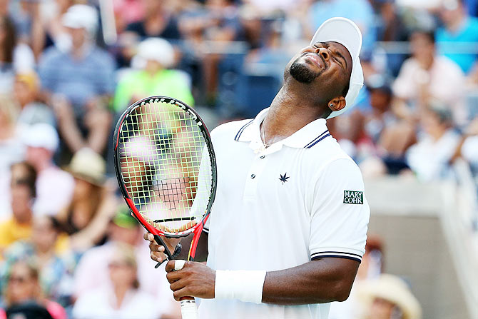 US tennis player Donald Young (in pic) has accused Briton Ryan Harrison of making racism comments against him during their match at the New York Open on Monday