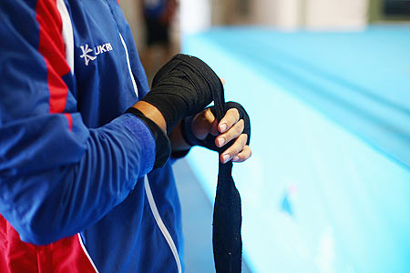A boxer tapes his hand before training (Image used for representational purposes)