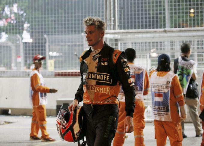 Hulkenberg pays penalty for Singapore slam