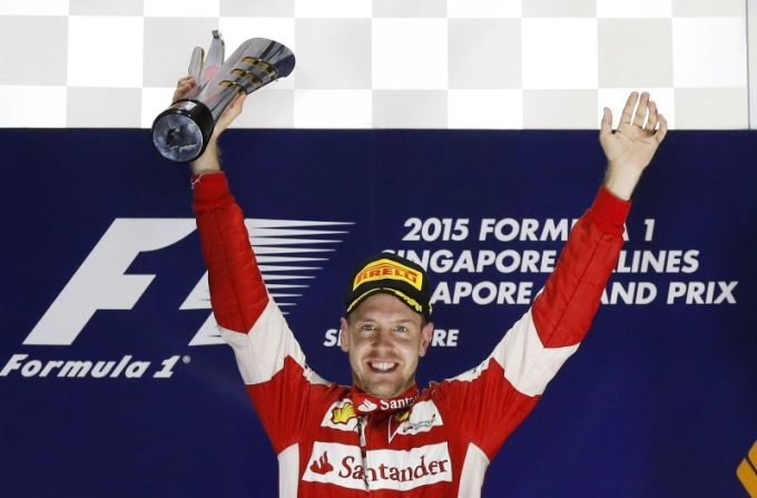Vettel claims victory in Singapore Grand Prix