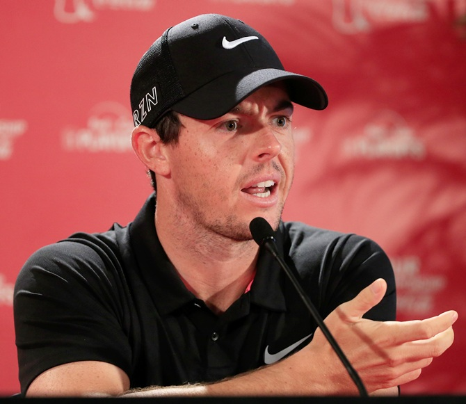 Rediff Sports - Cricket, Indian hockey, Tennis, Football, Chess, Golf - How McIlroy is inspired by 'unreal' Djokovic