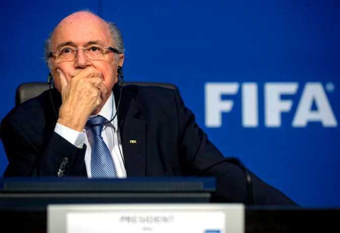Rediff Sports - Cricket, Indian hockey, Tennis, Football, Chess, Golf - Blatter's appeal against six-year FIFA ban to be heard on August 25