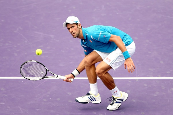 Rediff Sports - Cricket, Indian hockey, Tennis, Football, Chess, Golf - Miami Open: Djokovic beats Goffin, to face Nishikori in final