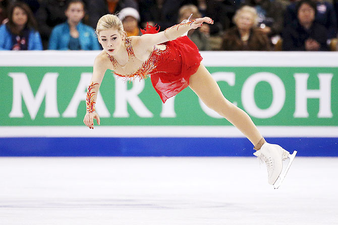 Gracie Gold of the United States competes