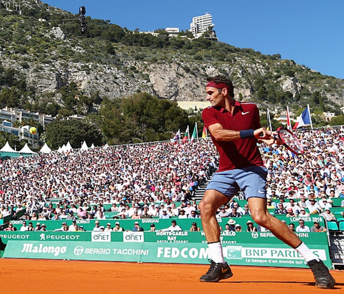 Rediff Sports - Cricket, Indian hockey, Tennis, Football, Chess, Golf - Monte Carlo Masters: Federer coasts into third round