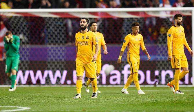 Rediff Sports - Cricket, Indian hockey, Tennis, Football, Chess, Golf - Will Barca's Champions League exit hit their La Liga bid?