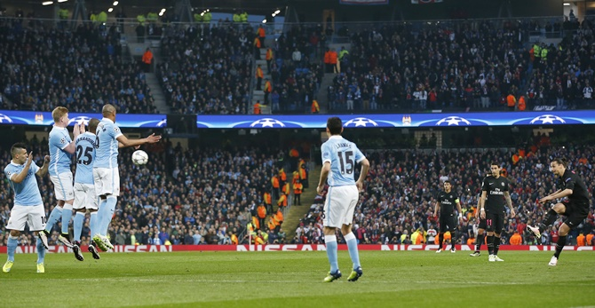 Rediff Sports - Cricket, Indian hockey, Tennis, Football, Chess, Golf - Manchester City hit by UEFA charge over fireworks during PSG game