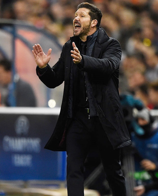 Rediff Sports - Cricket, Indian hockey, Tennis, Football, Chess, Golf - Atletico boss Simeone would be boring in English football