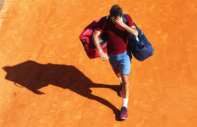 Rediff Sports - Cricket, Indian hockey, Tennis, Football, Chess, Golf - Monte Carlo: Federer out; Nadal, Murray storm into last four
