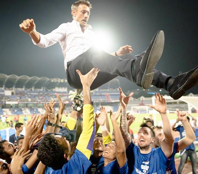 Rediff Sports - Cricket, Indian hockey, Tennis, Football, Chess, Golf - I-League: Bengaluru FC crowned champions