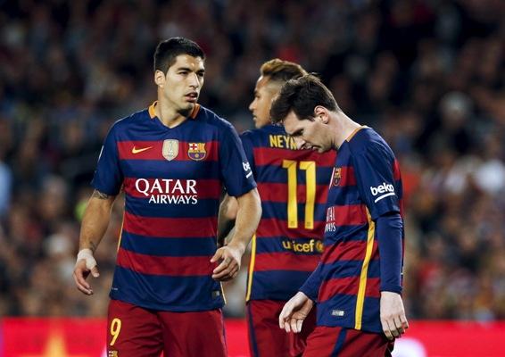 Rediff Sports - Cricket, Indian hockey, Tennis, Football, Chess, Golf - Tiring 'MSN' trident shouldering blame for Barcelona slump