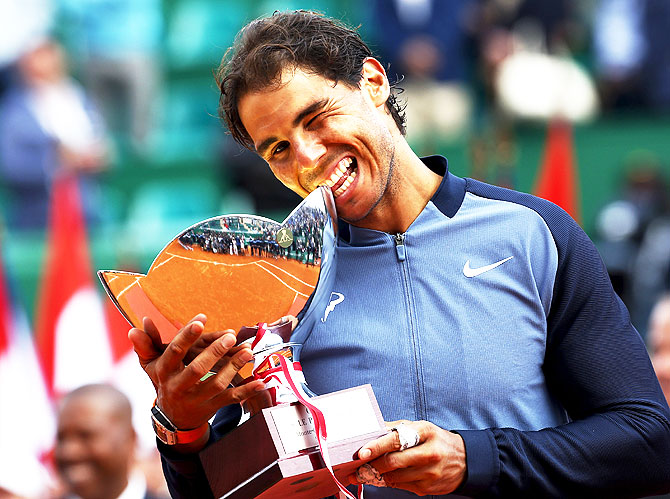 Rediff Sports - Cricket, Indian hockey, Tennis, Football, Chess, Golf - After finding his mojo, Nadal now has Vilas's record in sight
