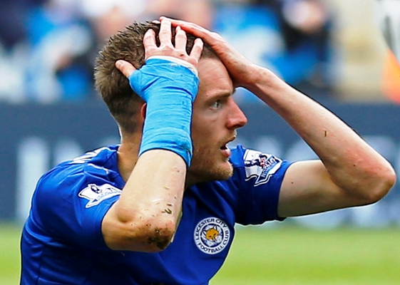 Rediff Sports - Cricket, Indian hockey, Tennis, Football, Chess, Golf - Leicester's Jamie Vardy charged with improper conduct