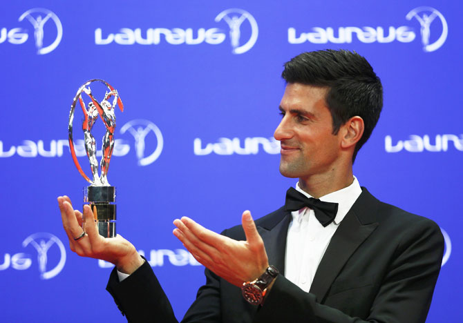 Rediff Sports - Cricket, Indian hockey, Tennis, Football, Chess, Golf - Dominant Djokovic, Serena claim top honours at Laureus Sports Awards