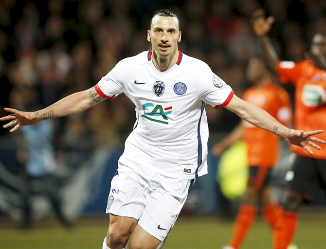 Rediff Sports - Cricket, Indian hockey, Tennis, Football, Chess, Golf - French Cup: Ibrahimovic sends PSG into final