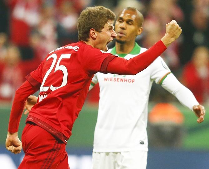 Rediff Sports - Cricket, Indian hockey, Tennis, Football, Chess, Golf - Mueller goals send Bayern into German Cup final