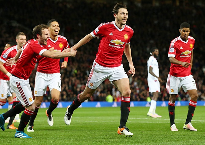 Rediff Sports - Cricket, Indian hockey, Tennis, Football, Chess, Golf - EPL: Darmian shines as United beat Palace; Liverpool hit Everton for four