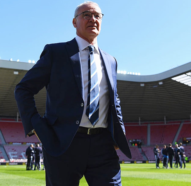 Rediff Sports - Cricket, Indian hockey, Tennis, Football, Chess, Golf - Ranieri comes clean: Leicester are going for the title