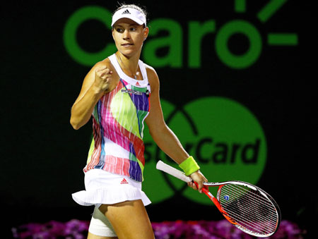 Rediff Sports - Cricket, Indian hockey, Tennis, Football, Chess, Golf - Kerber ends Siegemund fairytale to defend Stuttgart title