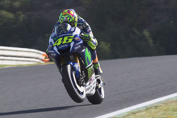 Rediff Sports - Cricket, Indian hockey, Tennis, Football, Chess, Golf - MotoGP: Rossi wins Spanish Grand Prix from pole