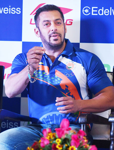 Rediff Sports - Cricket, Indian hockey, Tennis, Football, Chess, Golf - Rio Olympics: Salman to be Goodwill Ambassador of Indian contingent