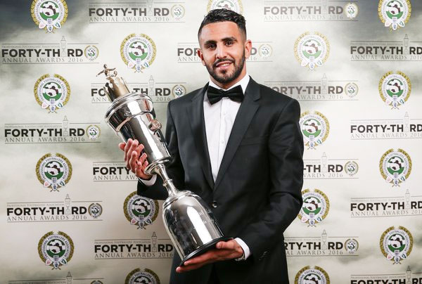 Rediff Sports - Cricket, Indian hockey, Tennis, Football, Chess, Golf - Mahrez first ever Leicester player to be named PFA Player of the Year