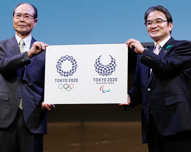 Rediff Sports - Cricket, Indian hockey, Tennis, Football, Chess, Golf - Tokyo 2020 unveils new logo after plagiarism claims
