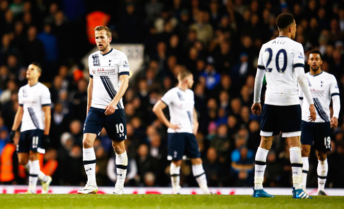 Rediff Sports - Cricket, Indian hockey, Tennis, Football, Chess, Golf - EPL: Spurs drop points and likely title in West Brom draw